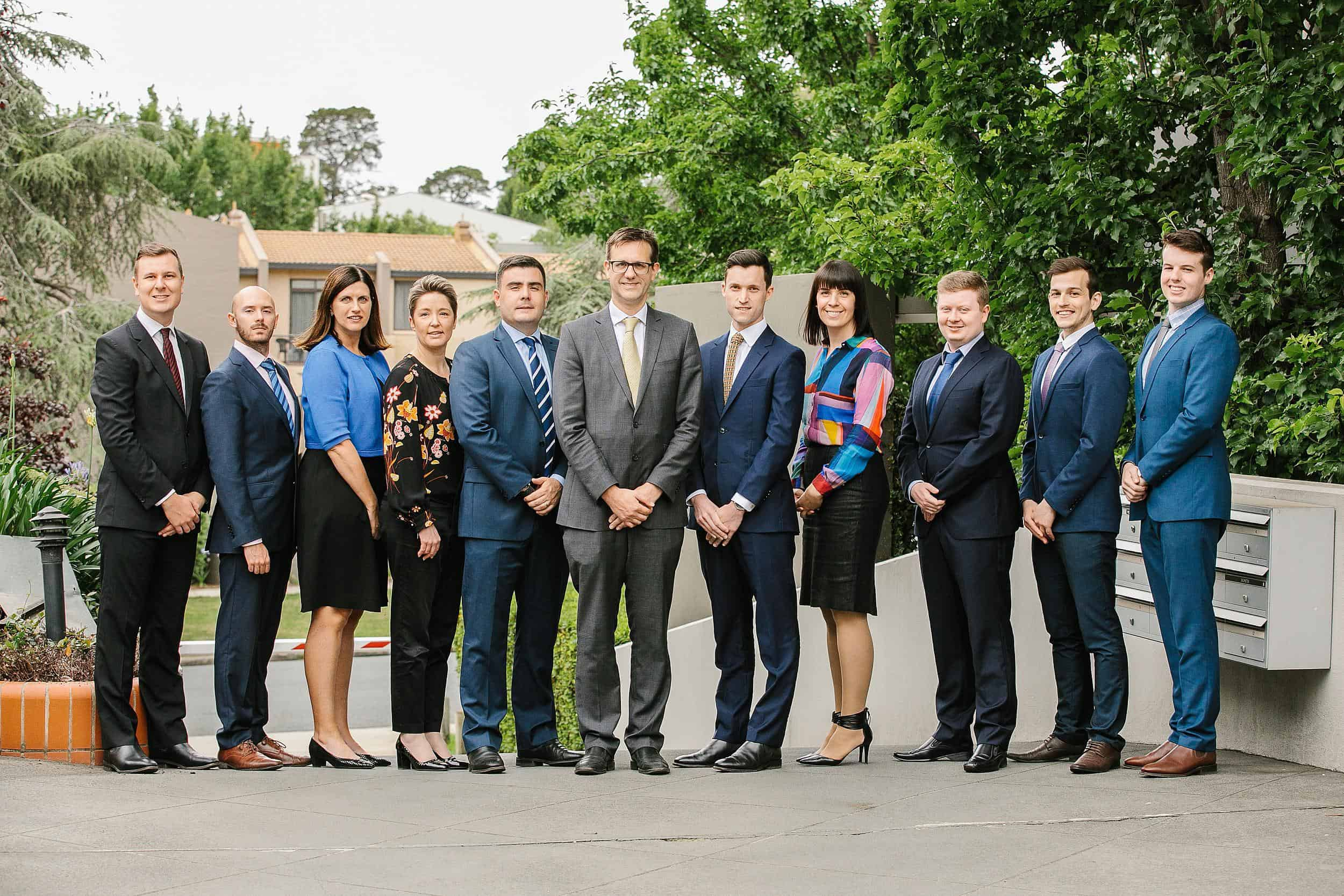 Corporate Group Portrait of 10 people