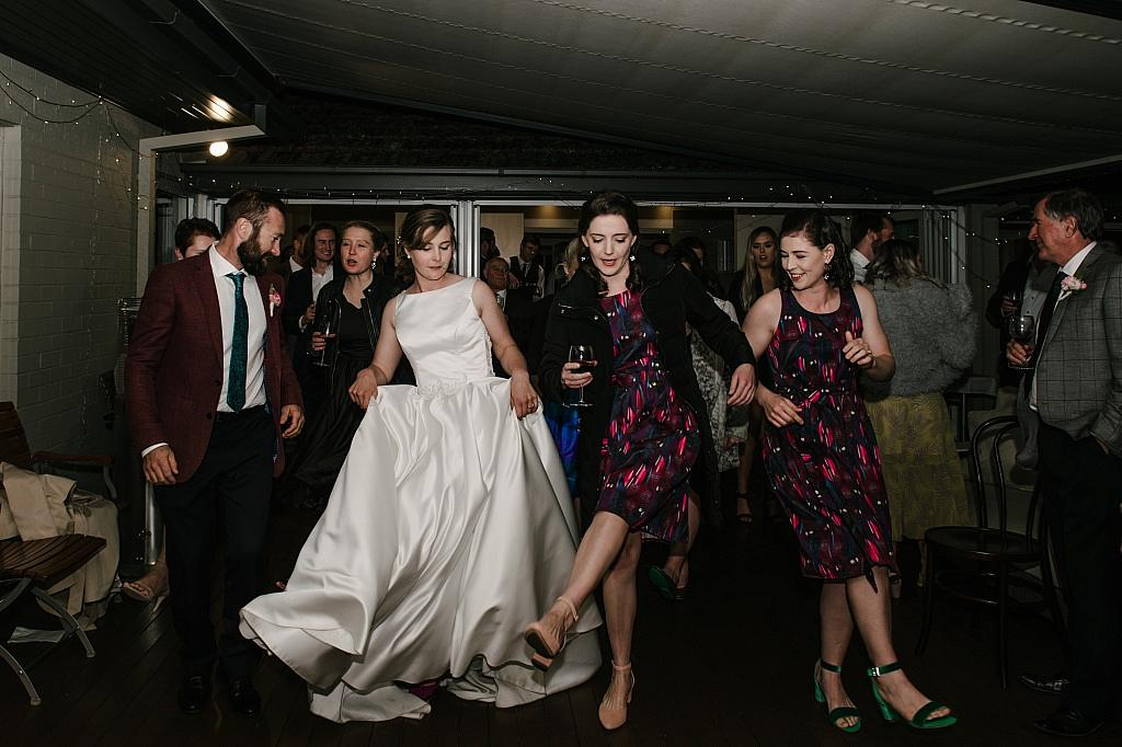 Me doing the nutbush at my wedding