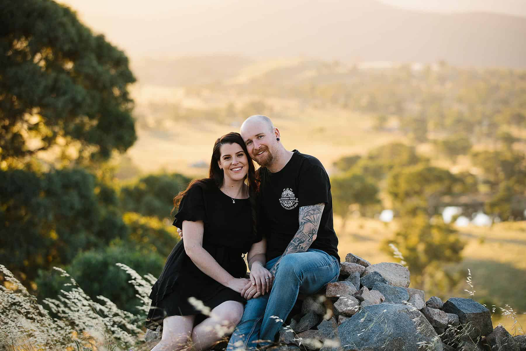 Sarah & Glenn's Sunset Engagement Session, Canberra